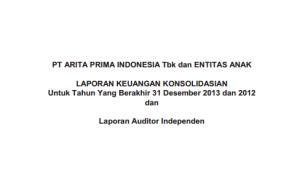 Laporan Keuangan Konsolidasi Tahun Berakhir 31 Des 2013