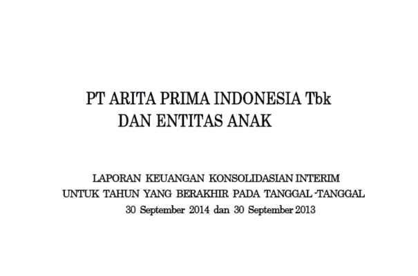 2014 - sept - Quartal Financial Report