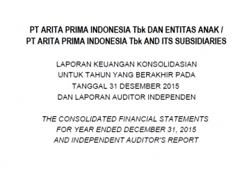 The Consolidated Financial Statements for year ended December 31, 2015 and Independent Auditor's Report