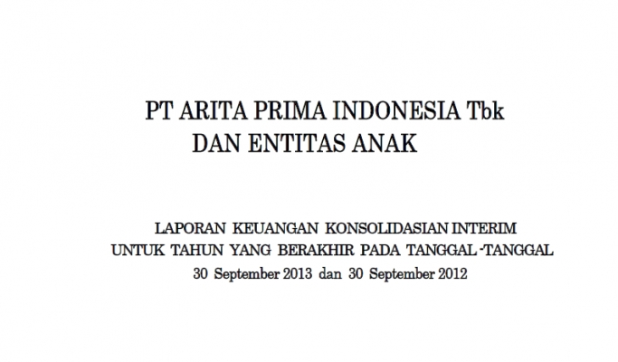 2013 - sept - Quartal Financial Report