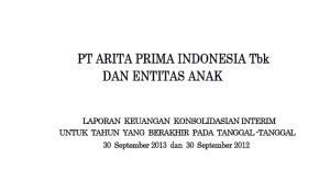 Laporan Keuangan Konsolidasi Interim September 2013